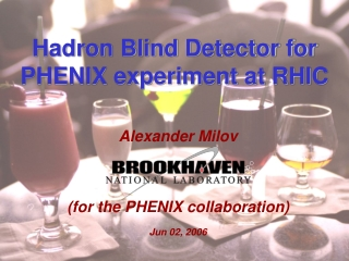 Hadron Blind Detector for PHENIX experiment at RHIC