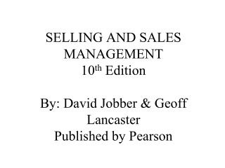 Background of Selling