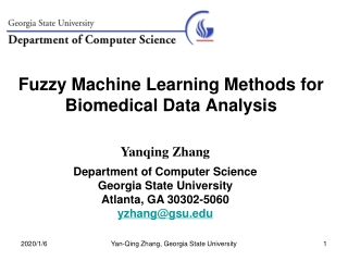 Fuzzy Machine Learning Methods for Biomedical Data Analysis