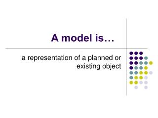 A model is…