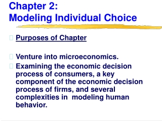 Chapter 2:                Modeling Individual Choice
