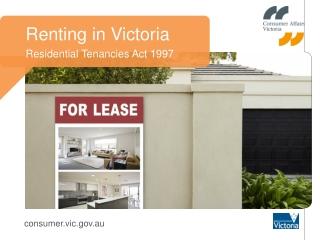 Renting in Victoria