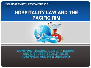 HOSPITALITY LAW AND THE PACIFIC RIM
