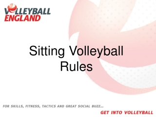Sitting Volleyball Rules