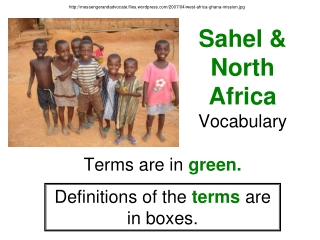 Sahel & North Africa Vocabulary