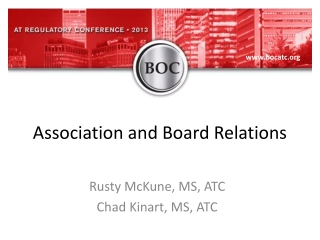 Association and Board Relations