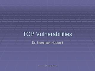 TCP Vulnerabilities