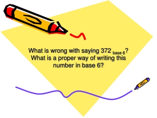 What is wrong with saying 372  base 6 ?  What is a proper way of writing this number in base 6?