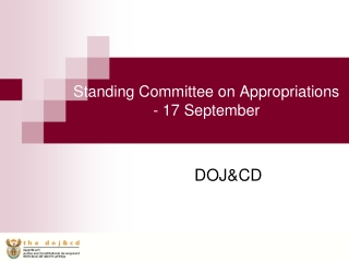 Standing Committee on Appropriations - 17 September