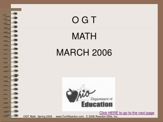 O G T MATH MARCH 2006