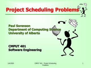 Project Scheduling Problems
