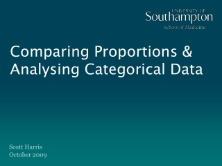 Comparing Proportions & Analysing Categorical Data