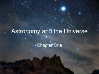 Astronomy and the Universe