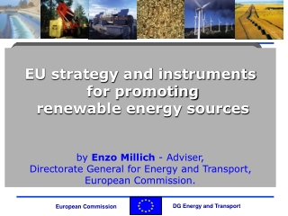 EU strategy and instruments  for promoting   renewable energy sources by  Enzo Millich  - Adviser,