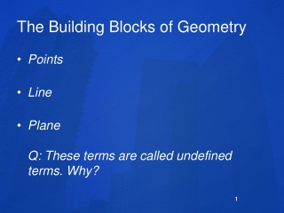 The Building Blocks of Geometry