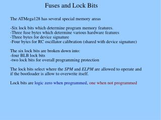 Fuses and Lock Bits