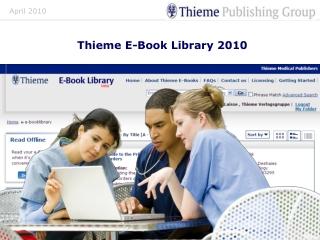 Thieme E-Book Library 2010