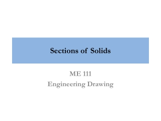 Sections of Solids