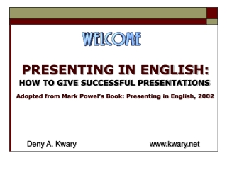 PRESENTING IN ENGLISH: