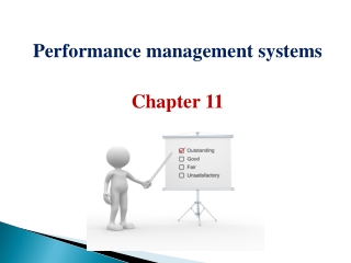 Performance management systems Chapter 11