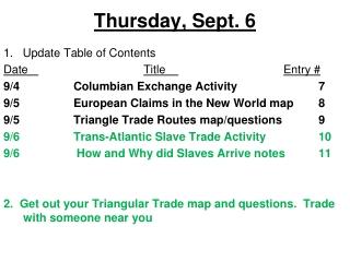 Thursday, Sept. 6