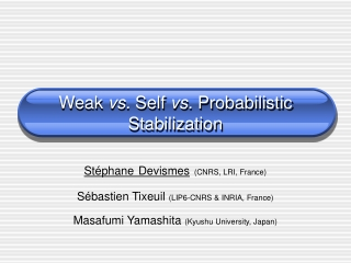 Weak  vs.  Self  vs.  Probabilistic Stabilization