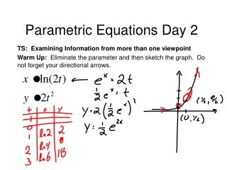 Parametric Equations Day 2