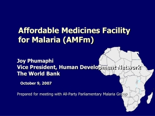Affordable Medicines Facility for Malaria (AMFm)