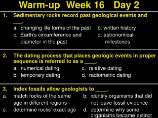 Warm-upWeek 16Day 2