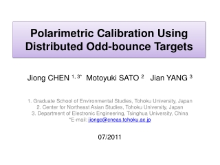 Polarimetric Calibration Using Distributed Odd-bounce Targets