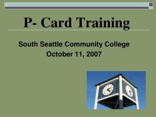 P- Card Training
