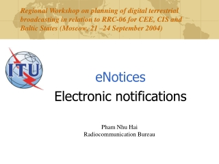 eNotices Electronic notifications
