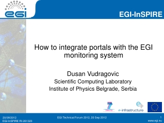How to integrate portals with the EGI monitoring system