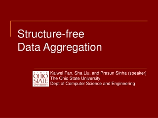 Structure-free Data Aggregation