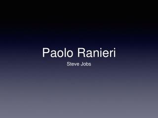Paolo Ranieri