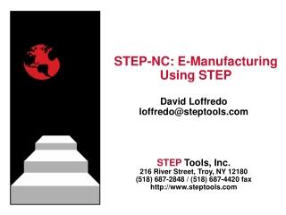 STEP-NC: E-Manufacturing Using STEP