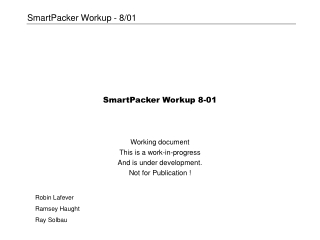 SmartPacker Workup 8-01
