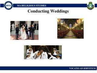 Conducting Weddings