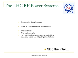 The LHC RF Power Systems