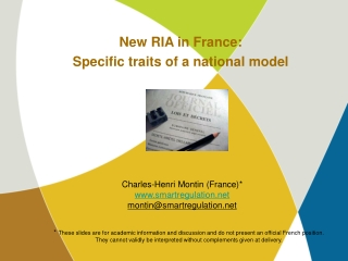 New RIA in France: Specific traits of a national model