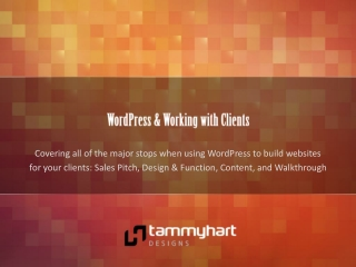 WordPress & Working with Clients