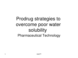 Prodrug strategies to overcome poor water solubility