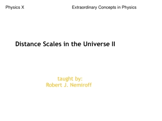 Distance Scales in the Universe II