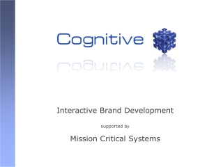 Interactive Brand Development supported by Mission Critical Systems