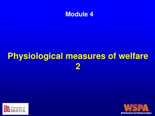 Physiological measures of welfare 2