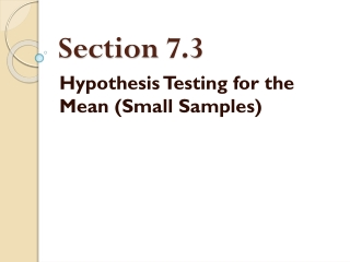 Section  7.3