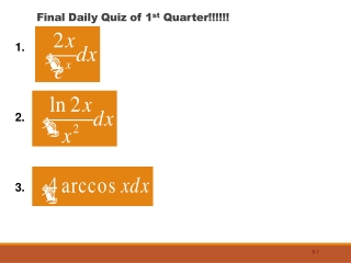 Final Daily Quiz of 1 st  Quarter!!!!!!