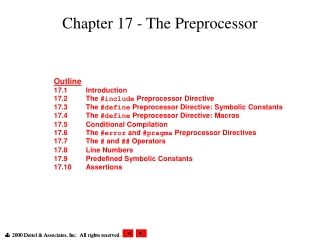 Chapter 17 - The Preprocessor