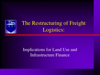 Implications for Land Use and Infrastructure Finance