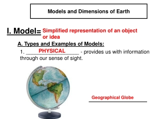 Models and Dimensions of Earth